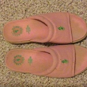 Pink slide shoes from Polo